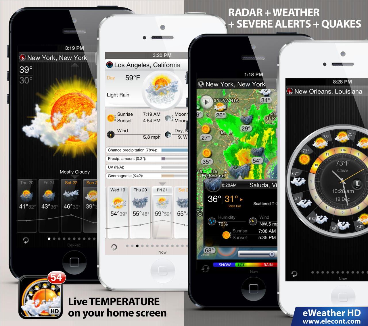 severe weather alerts and advisories iphone and ipad europe, usa