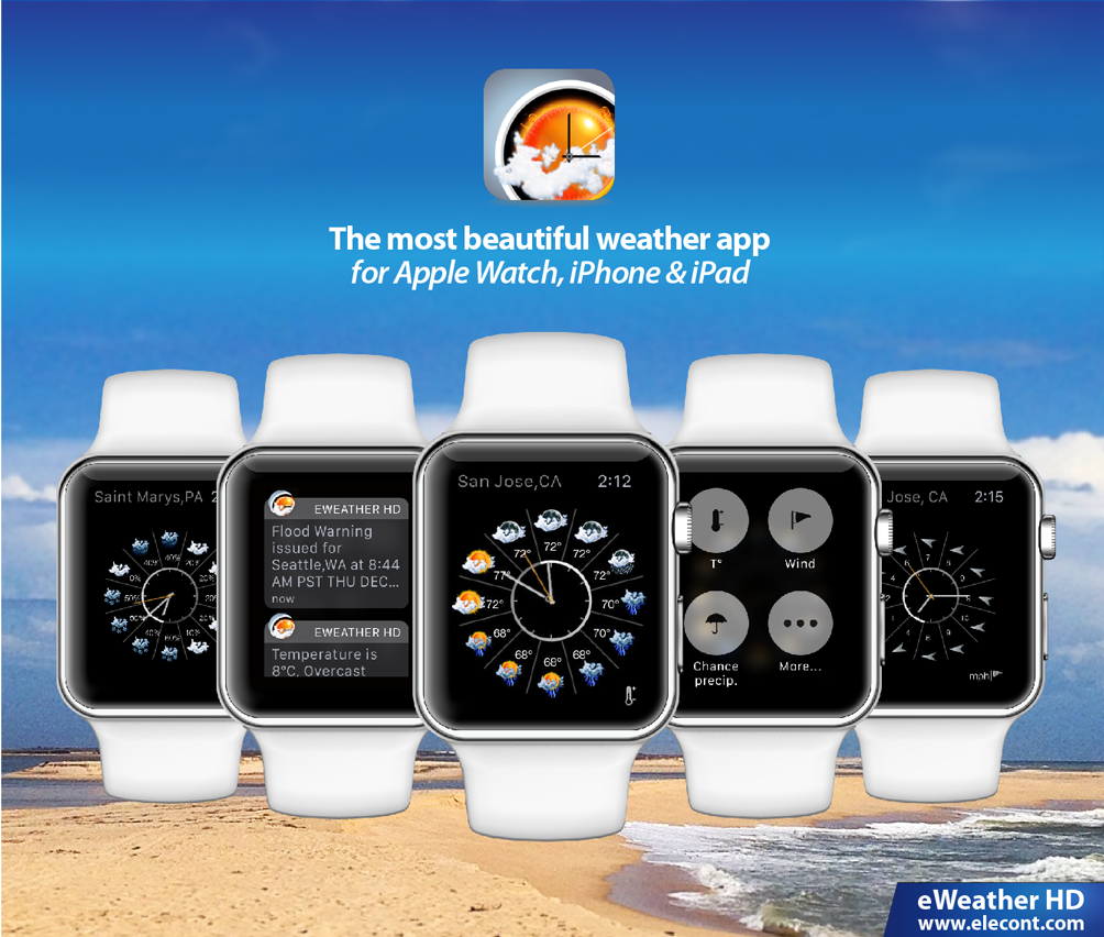 eWeather HD 3 5 - Weather app for Apple Watch, Tide predictions