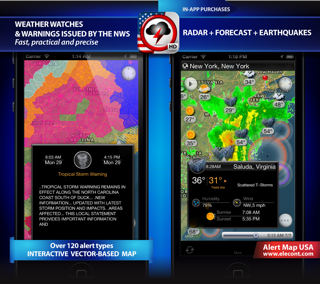 severe weather alerts, radar, weather layers, earthquakes and weather widget for iPhone, iPod, iPad, iOS 7