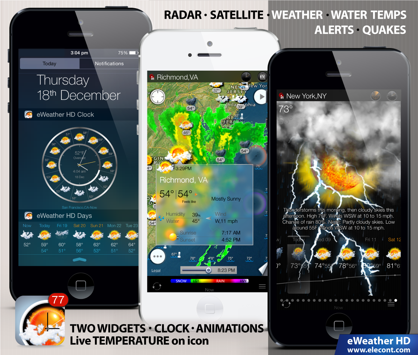 eweather hd weather app for apple watch iphone and ipad page 4 iphone ipad ipod forums. Black Bedroom Furniture Sets. Home Design Ideas