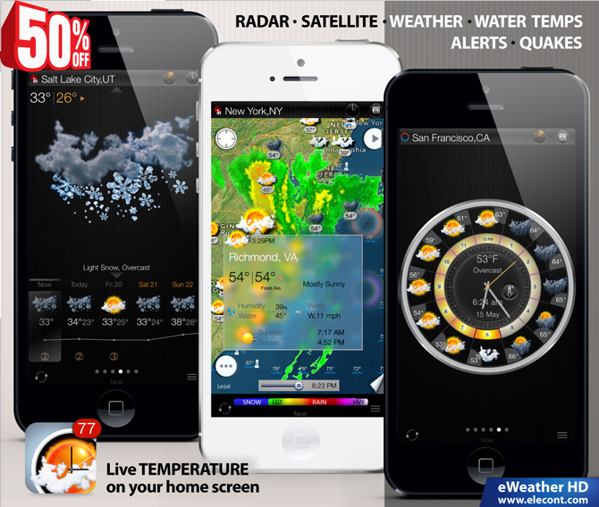 eweather hd weather app for apple watch iphone and ipad. Black Bedroom Furniture Sets. Home Design Ideas