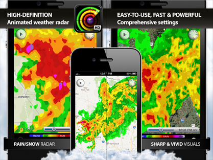 weather radar hd, NOAA, rain snow radar, weather forecast, alerts, earthquakes and weather widget for iPhone, iPod, iPad, iOS 7