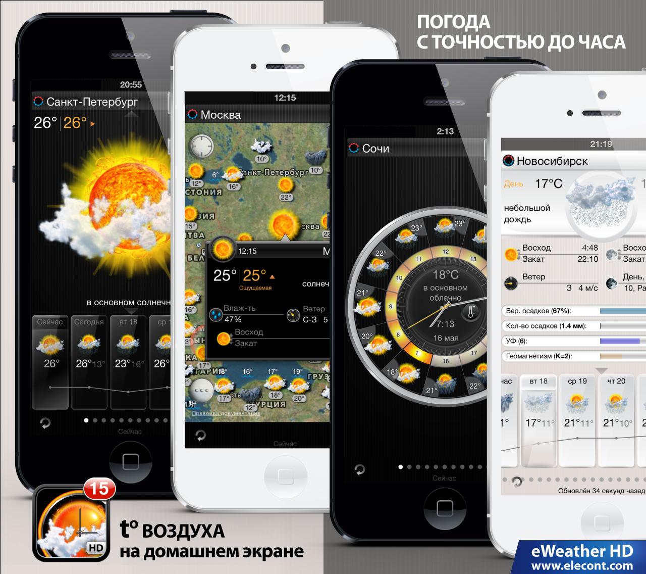 Прогноз погоды iPhone и iPad