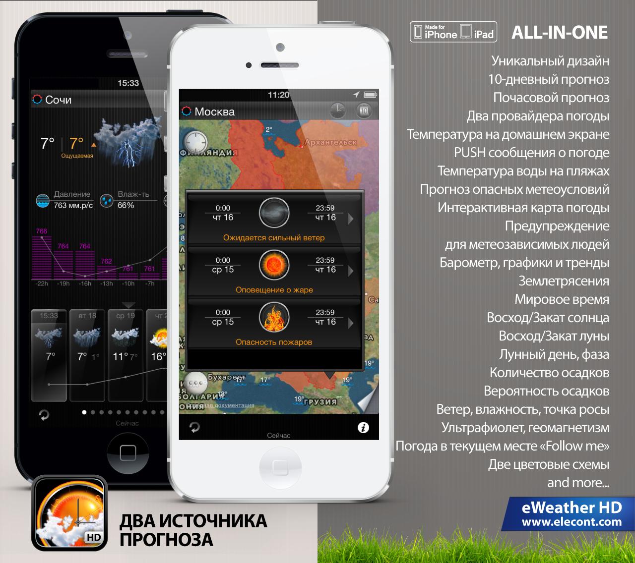 Погода iPhone и iPad