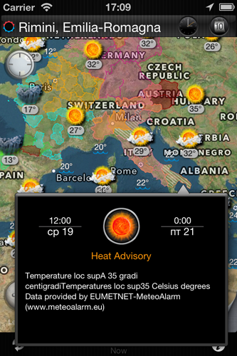 eWeather hd weather forecast iphone ipad ipod radar alerts. Receive weather alerts using PUSH in Notification center iPhone and iPad. Get hurricane,tornado, thunderstorm and other weather alerts for Europe.