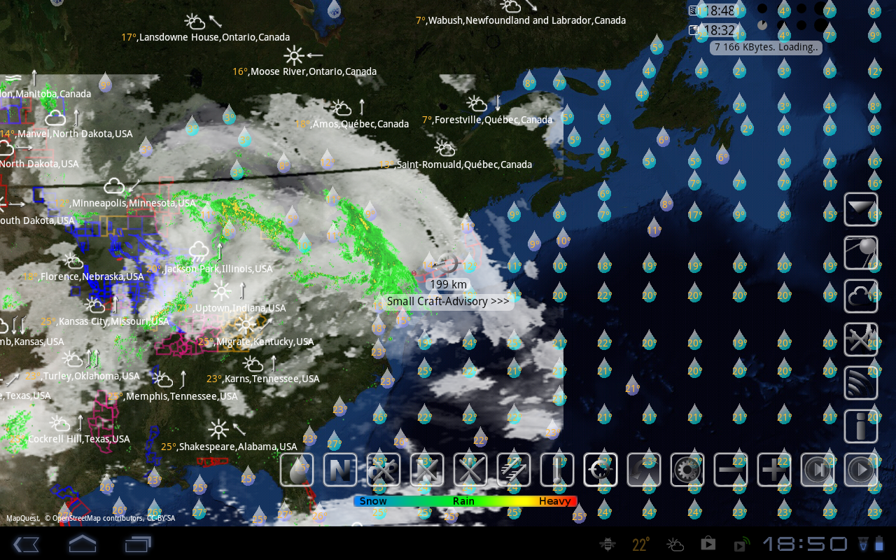 Weather radar alerts quakes for android