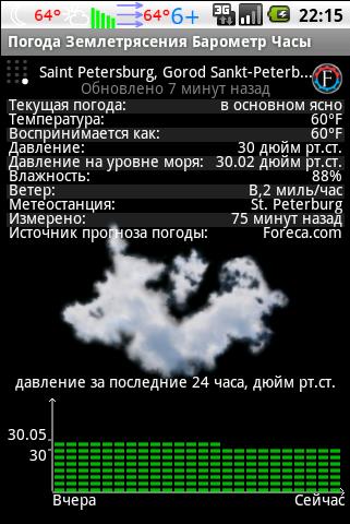 текущие погодные условия для Android